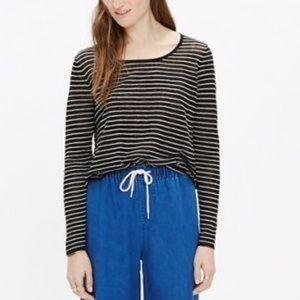 Madewell Skipper Pullover Linen Blend Knit Top